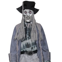 Deluxe Zombie Ghost Pirate Costume, Top, Trousers