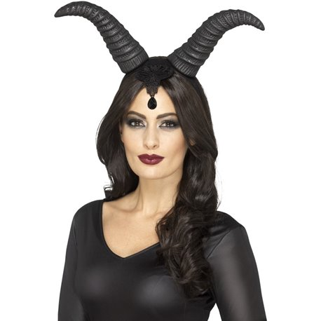 Demonic Queen Horns, on Headband