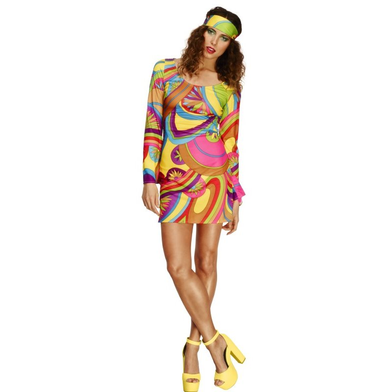 Fever 70s Flower Power Costume