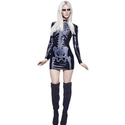 Fever Miss Whiplash Skeleton Costume