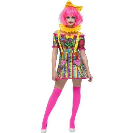 Fever Patchwork Clown Costume