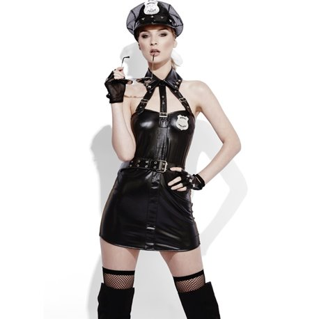 Fever Role-Play Cop Wet Look Costume