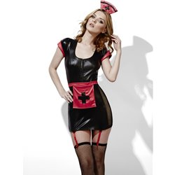 Fever Role-Play Midnight Nurse Wet Look Costume