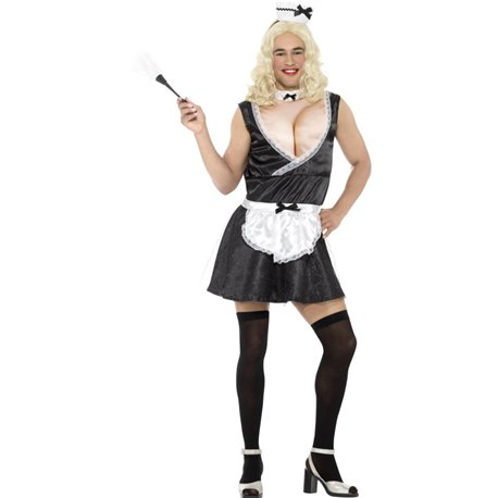 French Maid Costume, with Dress, Padded Bust,