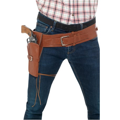 Adult Faux Leather Single Holster with Belt2