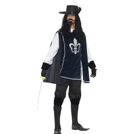 Musketeer Male Costume, with Top, Hat