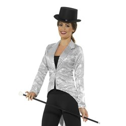 Sequin Tailcoat Jacket, Ladies