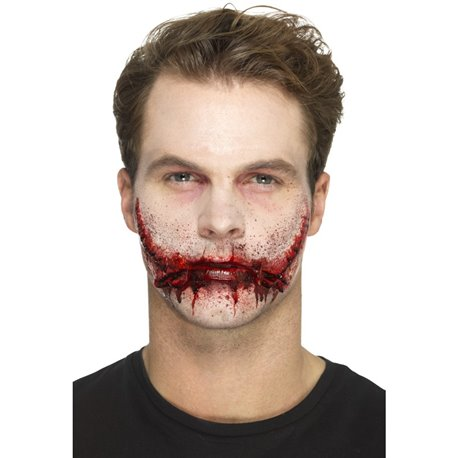 Smiffys Make-Up FX, Latex Stitched Smile Wounds