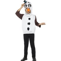 Snowman Costume, with Tabard, Carrot Nose