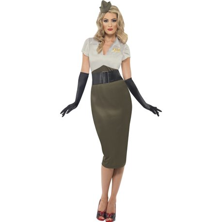 WW2 Army Pin Up Spice Darling Costume