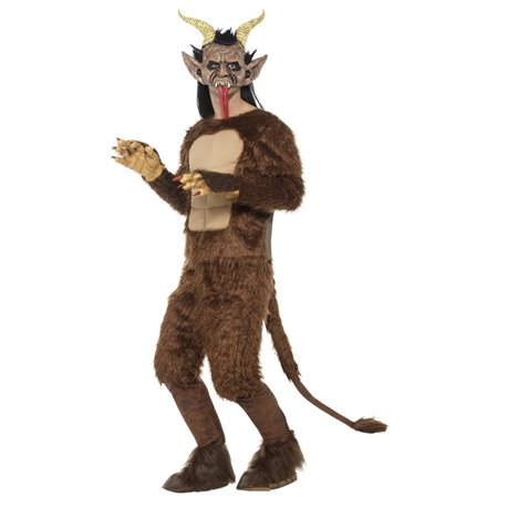 Beast / Krampus Demon Costume, Long Pile Fur