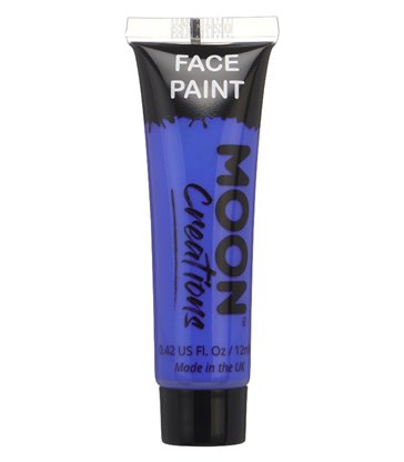 Moon Creations Face & Body Paint, Dark Blue