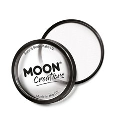 Moon Creations Pro Face Paint Cake Pot, White
