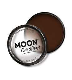 Moon Creations Pro Face Paint Cake Pot, Dark Brown