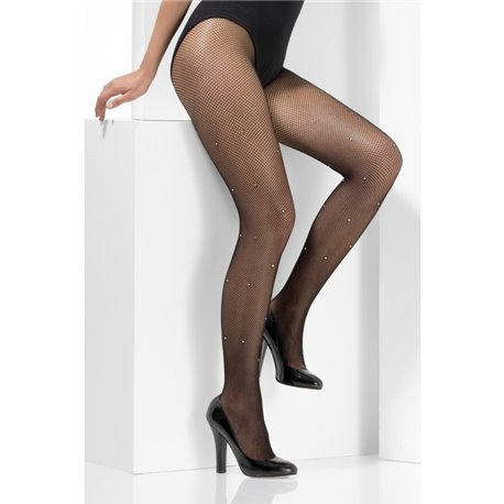 Crystallised Fishnet Tights