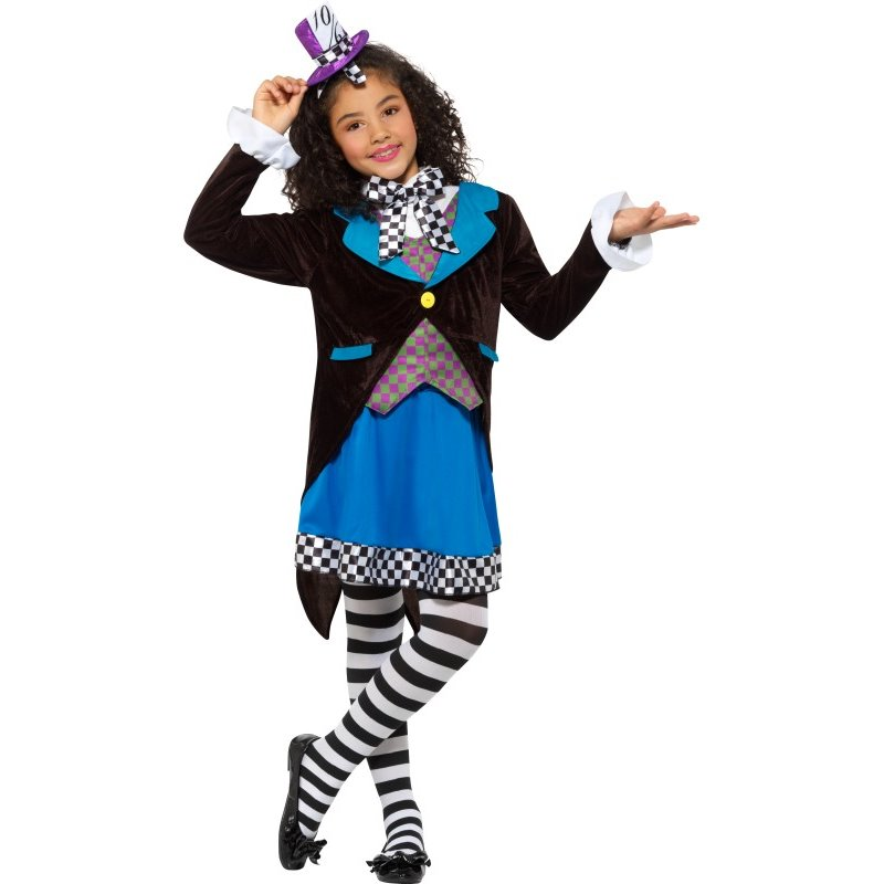 Deluxe Little Miss Hatter Costume, with Dress